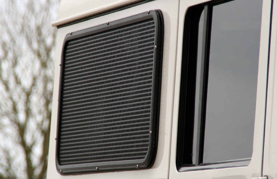 Land Rover Defender window guard