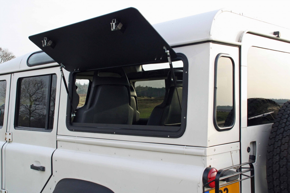 Land Rover Defender expedition windows